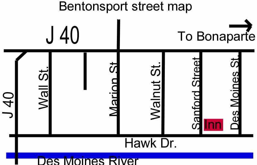 Bentonsport Iowa Map.Bentonsport Ia B And B Lodging Bentonsport Ia B B Iowa Bed And Breakfast