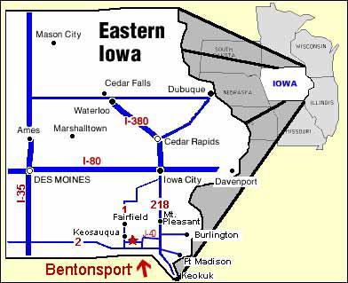 Maps - Map of eastern iowa